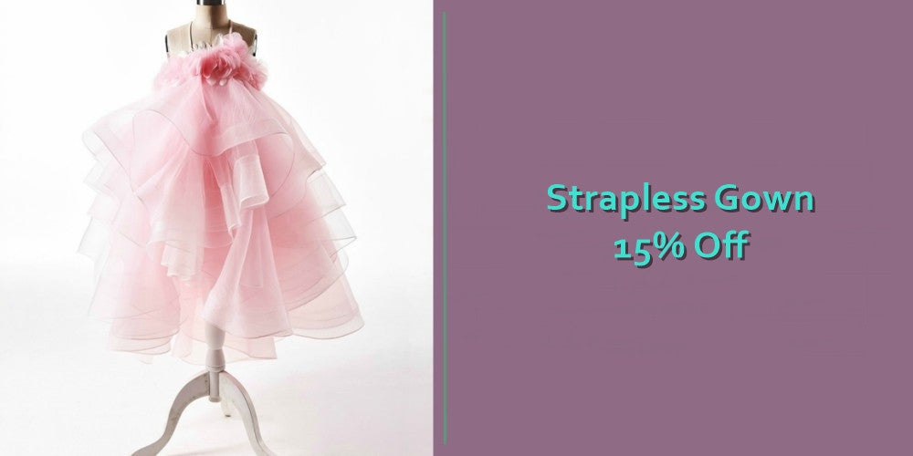 Girly Shop's Light Pink Tiered Layered Floor Length Flower Girl Dresses