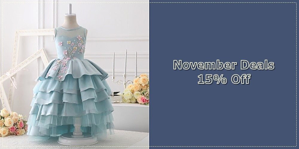 Girly Shop I November Deals 15% Off High Quality Junior Bridesmaid Gown