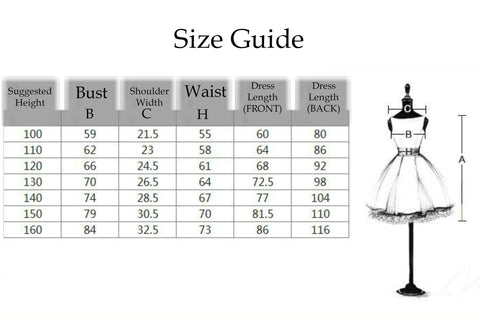Girly Shop's Size Guide
