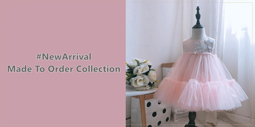 Girly Shop I New Arrival Floral & Sequin Applique Little & Big Girl Party Dresses