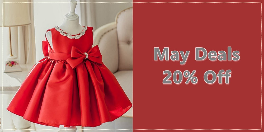 Girly Shop I May Deals 2019 20% Off Red Children Party Dresses I Free Worldwide Shipping!