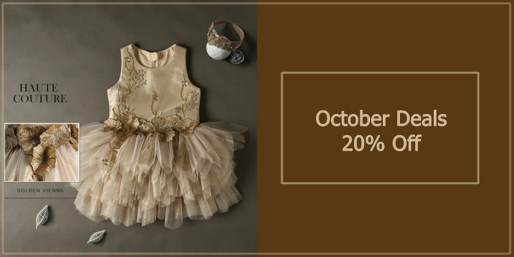 Girly Shop's October Deals Haute Couture Flower Girl Dress