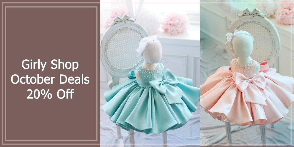 Girly Shop's October Deals 20% Off Beautiful Flower Girl Dresses