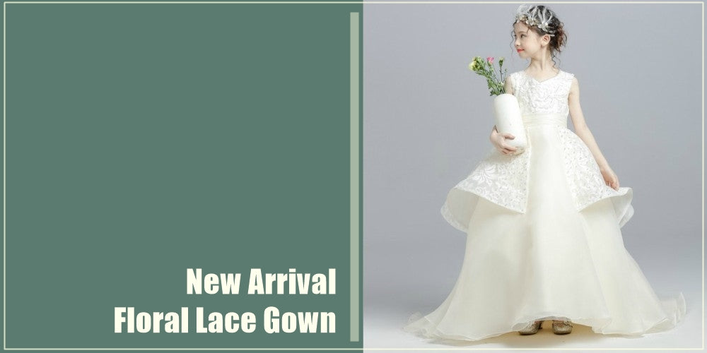Girly Shop I White Floral Lace Gown