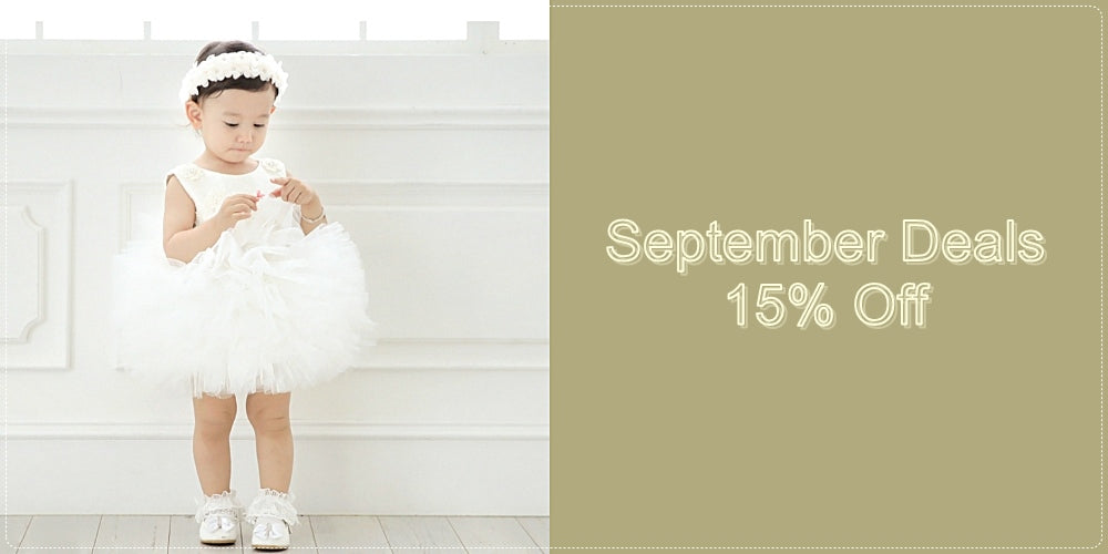 Girly Shop I September Deals 15% Off Flower Girl Dresses