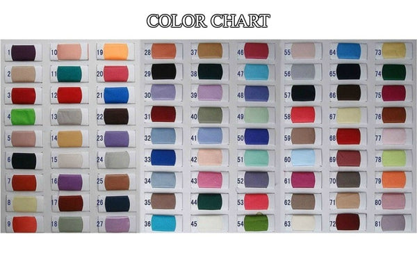 Girly Shop's Color Chart