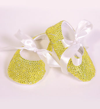 Girly Shop's Yellow Lemon Baby Girl Blink Shoes