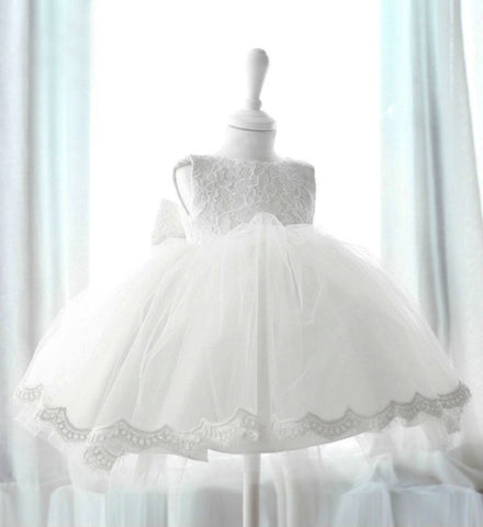 Girly Shop's White Vintage Lace Girl Dress