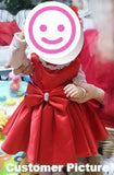 Girly Shop's Red Rhinestone Appliques Little Girl Party Dress