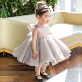 Girly Shop's Light Gray Bow Shoulder Dress