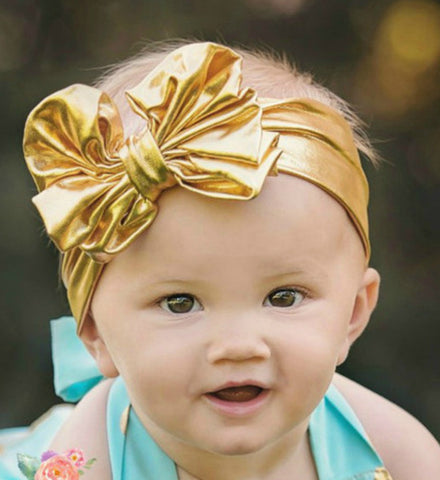 Girly Shop's Metallic Gold, pink, Black, Blue Headband