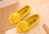 Girly Shop's Yellow Suede Little Girl Shoes