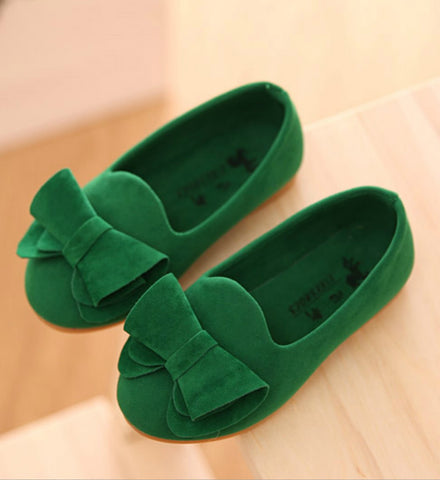 Girly Shop's Dark Green Suede Shoes