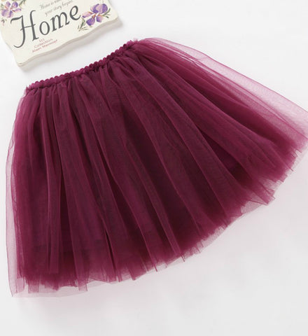 Girly Shop's Burgundy Infant Toddler Tutu Skirt