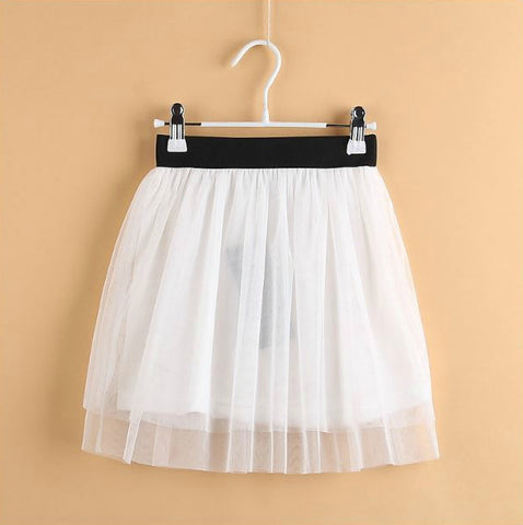 Girly Shop's White Baby Girl Mini Skirt