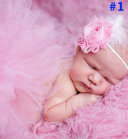Girly Shop's Newborn photo prop I Tutu skirt & Headband