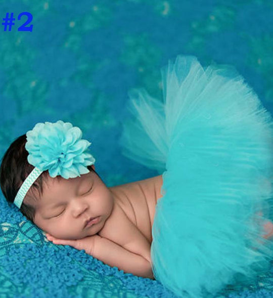 Girly Shop's Turquoise Tutu Skirt & Headband