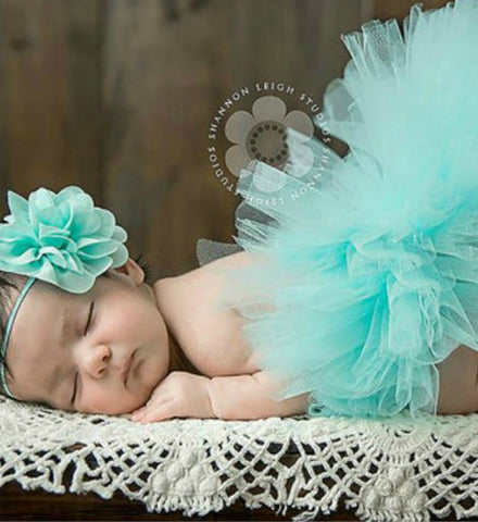 Girly Shop's Mint Green Tutu Skirt & Headband