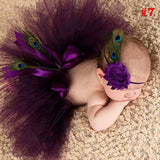 Girly Shop's Plum Tutu Skirt & Peacock Headband