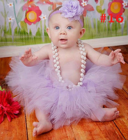 Girly Shop's Lavender Tutu Skirt & Headband Newborn Photo Prop