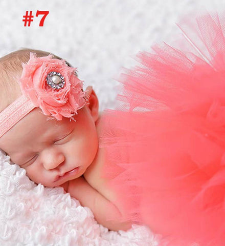 Girly Shop's Coral Tutu Skirt & Headband