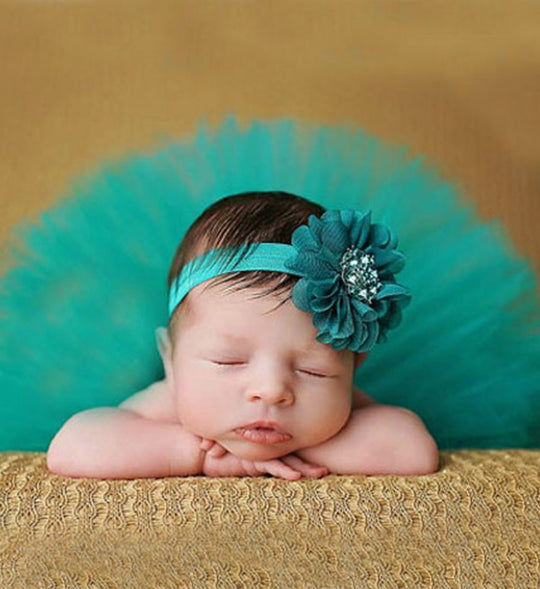 Girly Shop's Turquoise Tutu Skirt & Flower Headband