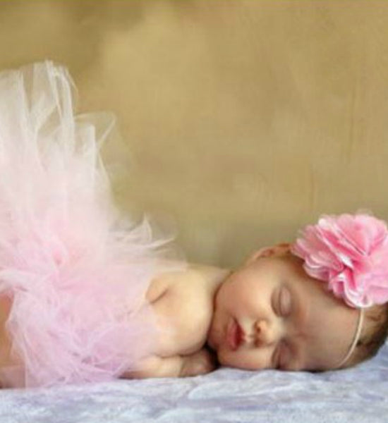 Girly Shop's Light Pink Tutu Skirt & Flower Headband