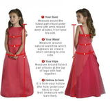 Girly Shop's Sleeveless Knee Length Tiered Layered Little Girl Party Dress