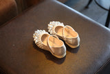 Girly Shop's Light Gold Flower Girl Shoes