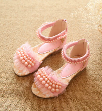 Girly Shop's Pink Pearls Sandals