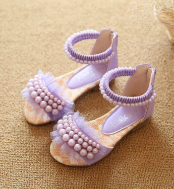 Girly Shop's Purple Pearl Sandals