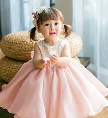 Girly Shop's Light Pink Beaded Flower Girl Dresses