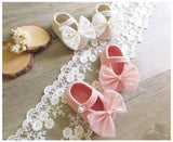 Girly Shop's Pink Big Bow Baby Booties