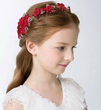 Girly Shop's red Flower Crown