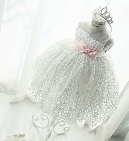 Girly Shop's White Hollow Baby Girl Dress