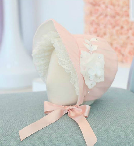 Girly Shop's Light Pink Baby Bonnet