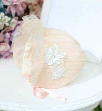 Girly Shop's Light Orange Baby Bonnet