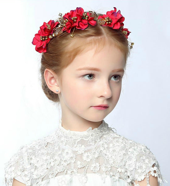 Girly Shop's Red Floral Crown
