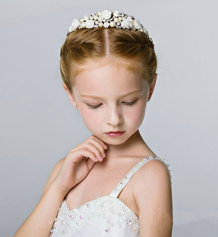 Girly Shop's Communion Tiara, Flower crown