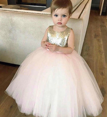 Girly Shop's Gold Sequin & Light Pink Tutu Ball Gown