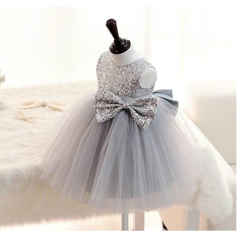 Girly Shop's Silver Sequin Girl Dress