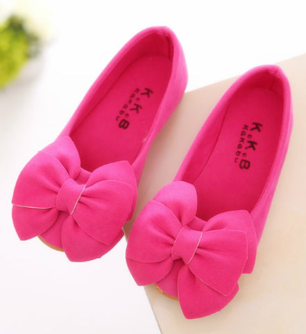 Girly Shop's Hot Pink Flower Girl Shoes