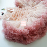 Girly Shop's Peach Cute Super Soft & Fluffy Rosette Tutu Dress