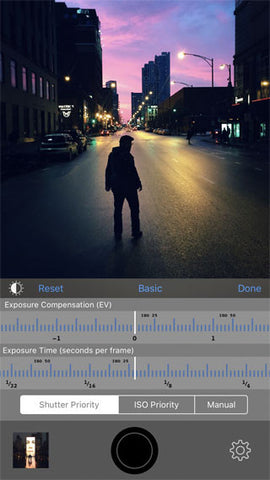 cortex camera iphone photography app night lowlight photography adjustable shooting settings