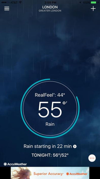 weather app accuweather minutecast