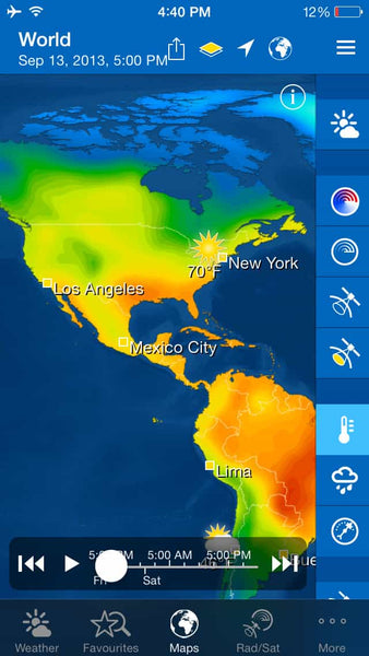 weather app weatherpro maps