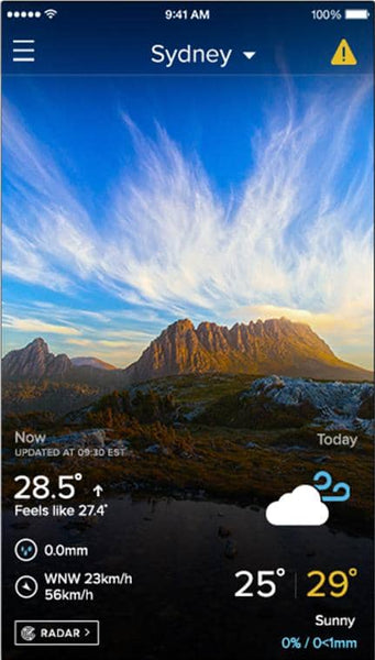 weather app weatherzone australia daily forecast