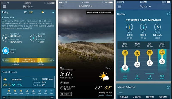 weather app weatherzone for australia