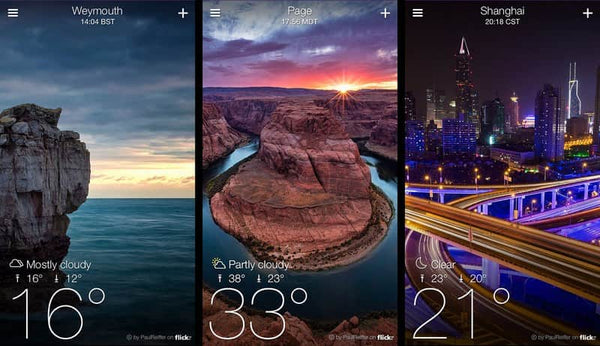 weather app yahoo weather best interface