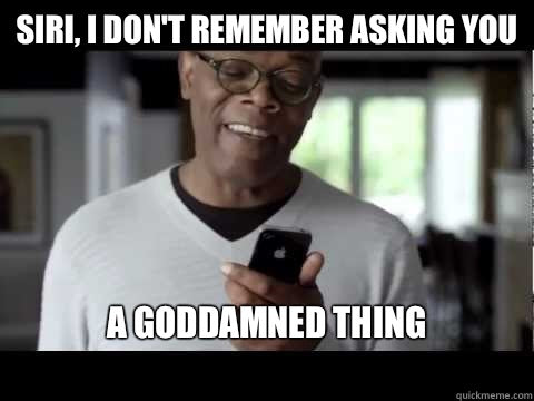 Samuel L. Jackson ask Siri iPhone